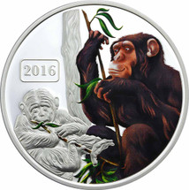 Monkey Family 1oz Coloured Proof Tokelau Coin