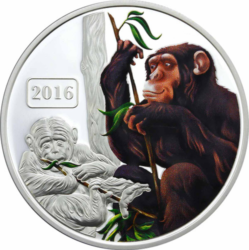 Monkey Family 1oz Coloured Proof Tokelau Coin