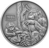 Monkey Family 1oz Silver Antique Tokelau Coin