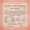 Mirror Monkeys certificate of authenticity