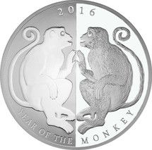 Mirror Monkey - Massive 65mm 1oz Pure Silver Tokelau Coin