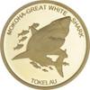 The 2015 Tokelau Mokoha - Great White Shark 0.5g pure gold coin