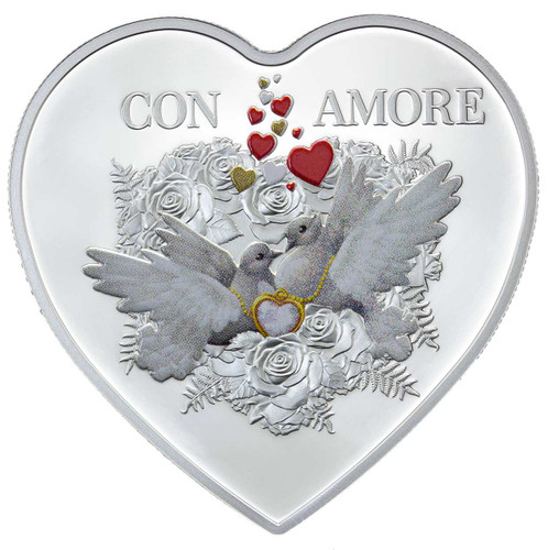 Con Amore 20g pure silver Tokelau coin 2016