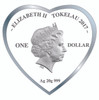 2017 Roses for Love 20g Pure Silver Tokelau Coin Obverse