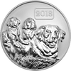 1oz Silver Reverse Proof Year of the Dog Tokelau Coin