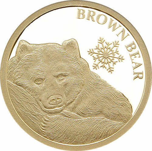 Brown Bear 05g Gold Tokelau Coin