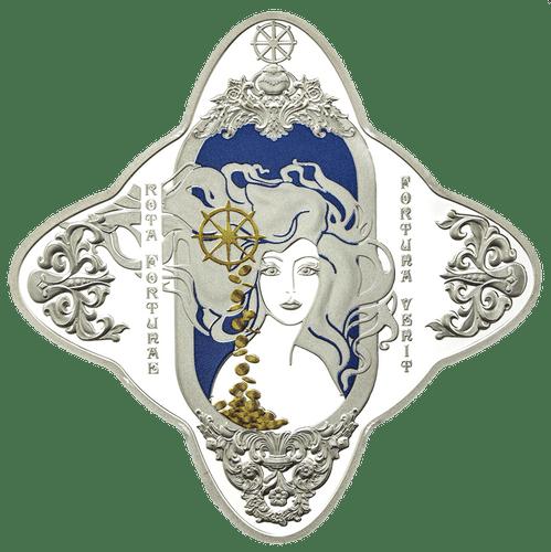 2018 Lady of Fortune 1oz Diamondesque Silver Tokelau Coin