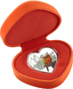 Love Birds heart-shaped Tokelau Silver coin in packaging