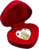 Bride & Groom heart-shaped Tokelau Silver Coin 2018 in presentation case