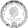 Scops Owl 65mm 1oz Tokelau Silver coin 2018 Obverse