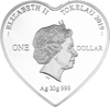 Forever Yours Tokelau 20g Silver Heart Shaped Coin Obverse