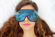 Dark Turquoise Sleep Eye Mask by Candi Andi