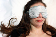 Pewter Paisley Eye Mask