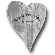 """'Happily Ever After...' Customized 18"""" Crushed Velvet Heart"""