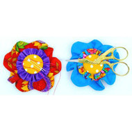 Flashcard: Magnetic Flower Needle/Scissor Holder