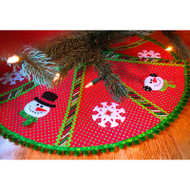 Mr. Snowman's Formal Christmas Wear Tree Skirt