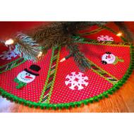 Mr. Snowman's Formal Christmas Wear Tree Skirt