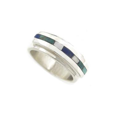 custom stone combo inlay ring