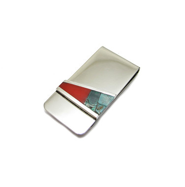 southwest inlay money clip