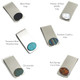 Stone Options Oval Inlaid Moneyclip