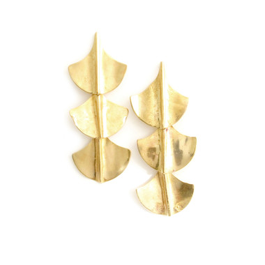 gold cascade earrings