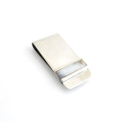 pearl shell inlay money clip