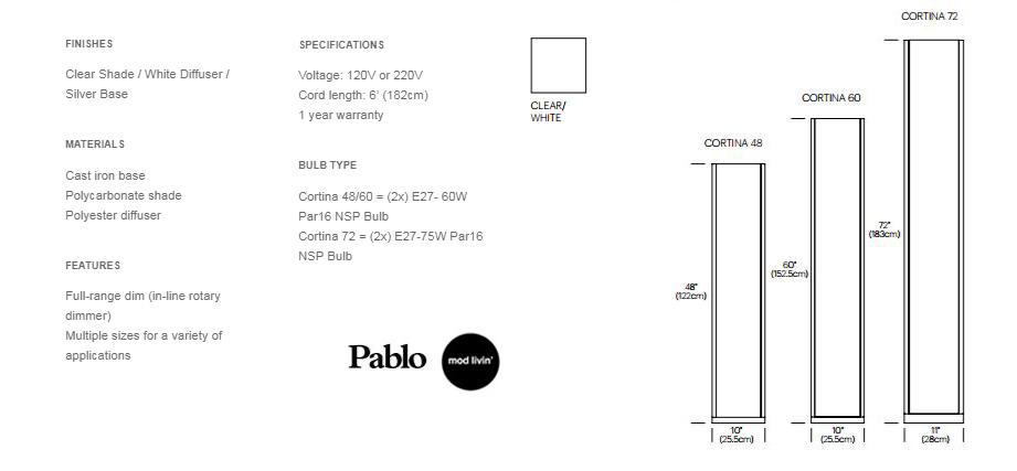 Pablo Designs Cortina Floor Lamp Mod Livin New And Vintage Modern Furniture
