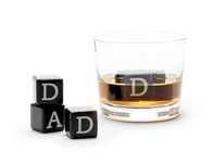 Whisky Stones: Etched Black Beverage Cubes (3)