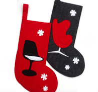 Holiday Stockings with modern chairs
