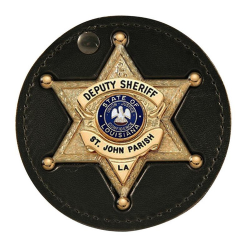 Boston Leather 5589 round clip on badge holster.