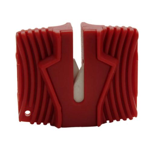 GROOVED CERAMIC HANDHELD KNIFE SHARPENER