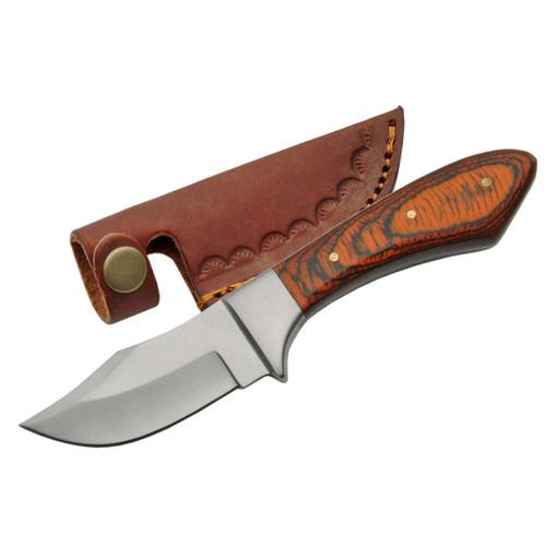 Classic upsweep skinning knife with sheath