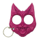 Pink Crazy cat defense keychain