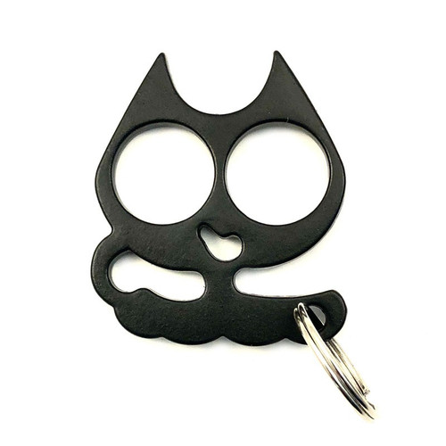 Black Mini Metal wild Kat self defense keychain.