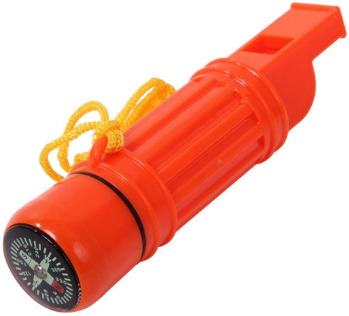 Deluxe 5-in-1 Survivor Tool with whistle and compass