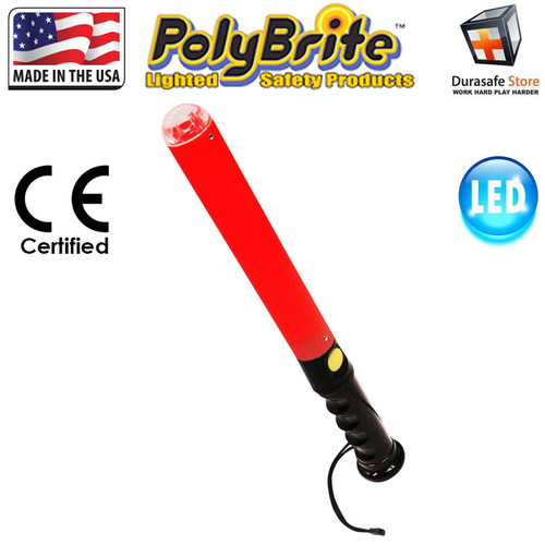 POLYBRITE BB-5R LED Safety Baton Red