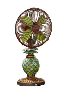 Table Fan/Lamp - Mosaic Glass Pineapple - DBF0247 - MIN ORDER: 1