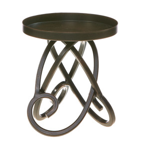 Candle Holder - 3-Wick Scroll Pillar Holder - NAT2360 - MIN ORDER: 4