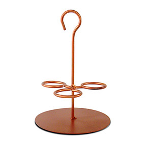 Happy Hour - Cocktail - Candle Holder - Shot Glass Caddy Copper - DFA5341 - MIN ORDER: 4