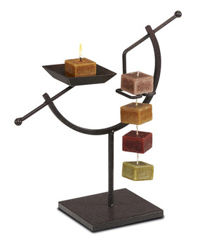 Candle On a Rope Holder - ARC - NAT5440 - MIN ORDER: 2