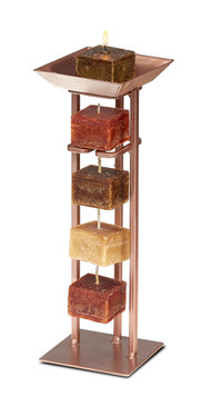 Candle on Rope Tower Holder  - Copper