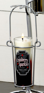 Happy Hour - Cocktail - Candle Holder - Shot Glass Hanger Silver - CHD6523 - MIN ORDER: 4