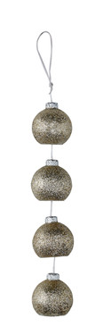 Candle on A Rope Silver Ornaments