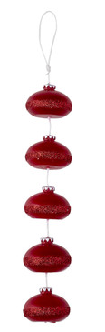 Holiday - Candle On a Rope - Red Ornaments - COR6498 - MIN ORDER: 6