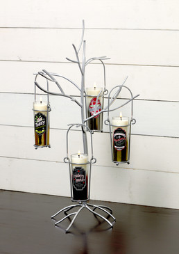 Happy Hour - Cocktail - Candle Holder - Shot Glass Holder Tree Silver - DFA6532 - MIN ORDER: 1