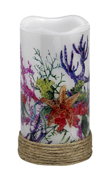 Coastal - LED Real Wax Candle - Coral Garden - LED7548 - MIN ORDER: 4