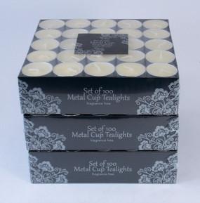Candle - Basics - TeaLight - Unscented Ivory 300 pk - AMZ6092 - MIN ORDER: 2