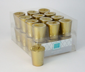 Candle - Basics - Votive - Gold - Individual Selling Units in Shelf Display - PTC5317 - MIN ORDER: 24