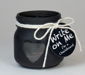 Candle Holder - Chalkboard Mason Jar Small - PTC6280 - MIN ORDER: 6