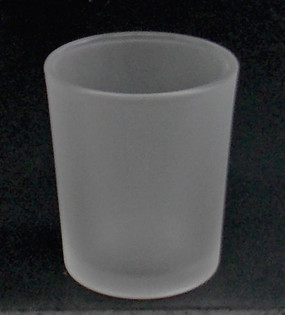 Candle Holder - Frosted Glass  - PTC5875 - MIN ORDER: 6